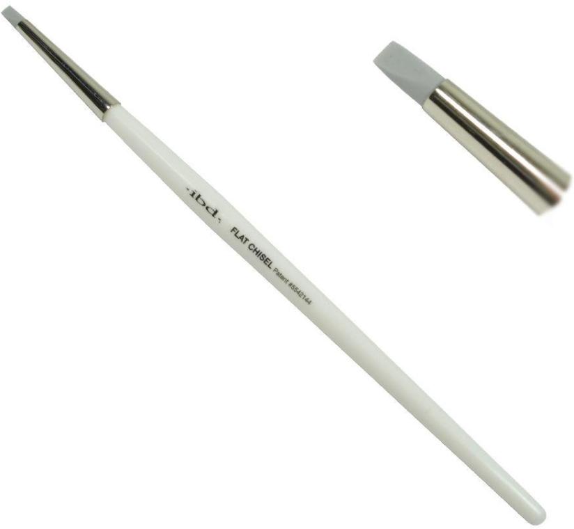 Кисть для маникюра с силиконовым наконечником - IBD Silicone Gel Art Tool Flat Chisel — фото N2