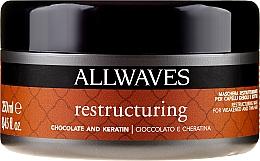 """Parfumuri și produse cosmetice Mască de păr """"Ciocolată și Cheratină"""" - Allwaves Chocolate And Ceratine Restructuring Mask"""