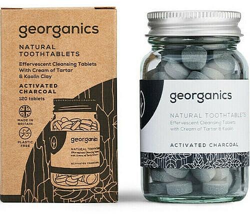 "Tablete pentru igiena orală ""Carbon activat"" - Georganics Natural Toothtablets Activated Charcoal"