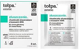 Parfumuri și produse cosmetice Șervețele exfoliante cu acizi AHA - Tolpa Estetic Exfoliating Wipe