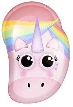 Parfumuri și produse cosmetice Perie de păr, pentru copii - Tangle Teezer The Original Mini Children Detangling Hairbrush Rainbow The Unicorn