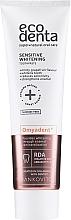Parfumuri și produse cosmetice Pastă cu efect de albire pentru dinți sensibili, fără fluor - Ecodenta Sensitive Whitening Toothpaste