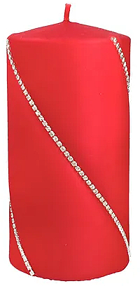 Lumânare decorativă roșie, 7x10cm - Artman Bolero — Imagine N1