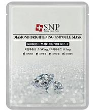 Parfumuri și produse cosmetice Mască cu extract de pulbere de diamant pentru față - SNP Diamond Brightening Ampoule Mask