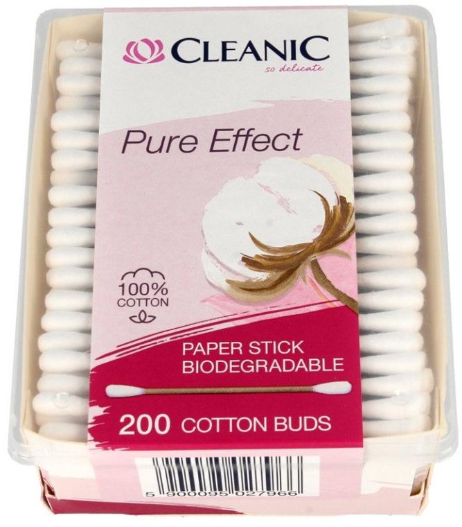 Bețișoare din bumbac - Cleanic Pure Effect