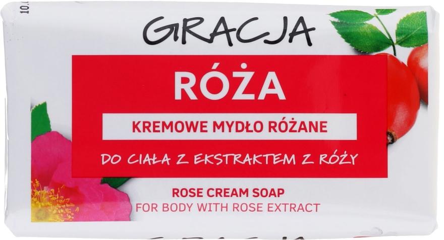 Săpun cu extract de trandafir - Gracja Rose Cream Soap With Rose Extract