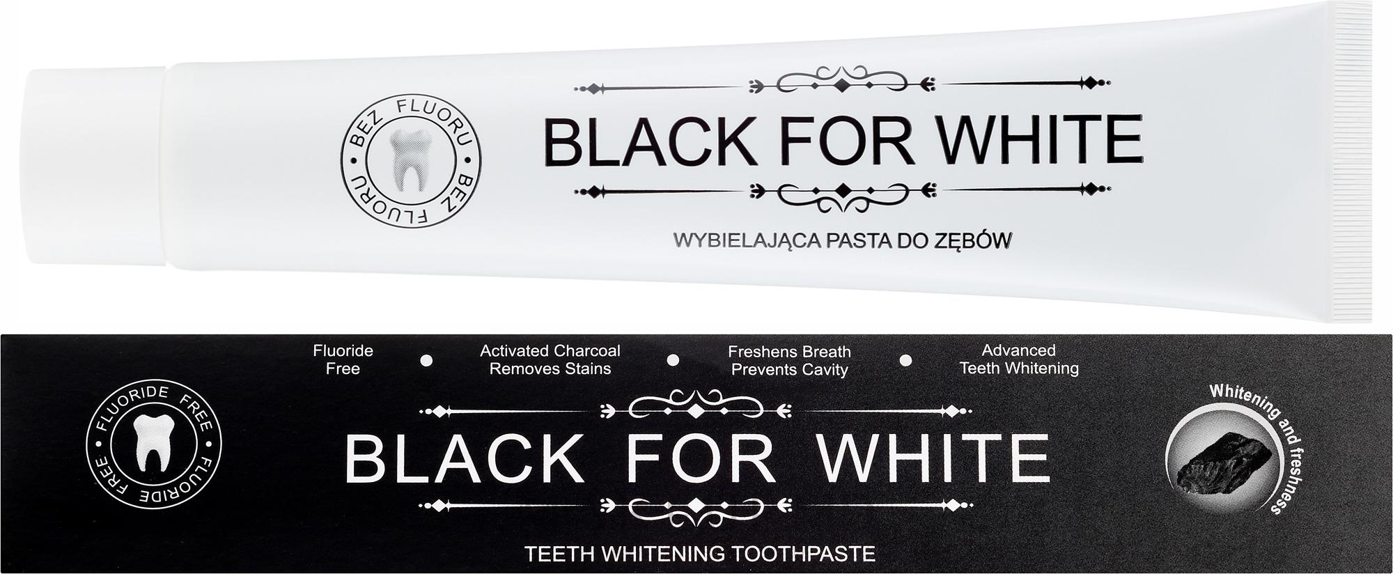 Зубная паста с активированным углем - Biomika Black For White Teeth Paste — фото 75 ml