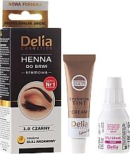 Parfumuri și produse cosmetice Vopsea-cremă pentru sprâncene - Delia Cosmetics Cream Eyebrow Dye