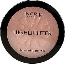 Parfumuri și produse cosmetice Pudră compactă cu efect iluminant - Ingrid Cosmetics HD Beauty Innovation Shimmer Powder