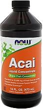 "Parfumuri și produse cosmetice Supliment alimentar, lichid ""Concentrat Acai"" - Now Foods Acai Liquid Concentrate"