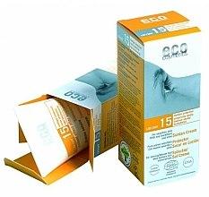 Parfumuri și produse cosmetice Солнцезащитный крем SPF 15 с экстрактом граната и облепихи - Eco Cosmetics Suntan Cream SPF 15