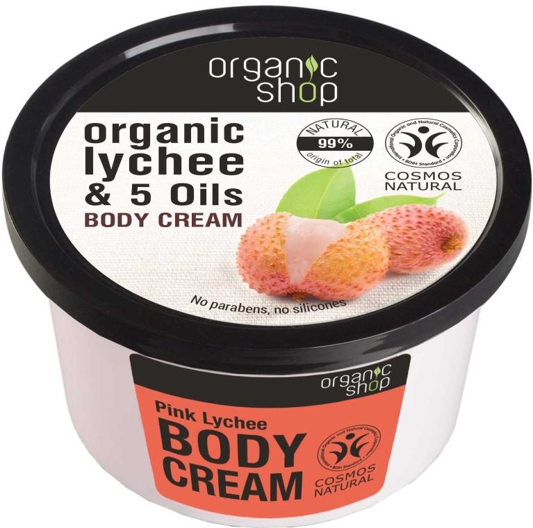 "Cremă de corp ""Litchi roz"" - Organic Shop Body Cream Organic Lichee & Oils"