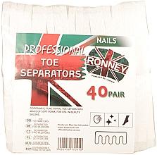 Parfumuri și produse cosmetice Separatoare pentru pedichiură, 80 buc - Ronney Professional Toe Separators
