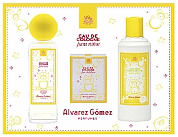 Parfumuri și produse cosmetice Alvarez Gomez Agua de Colonia Para Ninos - Set (edc/175ml + wipes/10pc + b/lot/300ml)