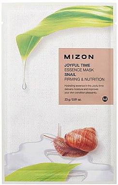 Mască de țesut cu mucus de melc - Mizon Joyful Time Essence Mask Snail