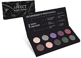 Parfumuri și produse cosmetice Paletă de Farduri de Pleoape - Affect Cosmetics Smoky And Shiny Eyeshadow Palette