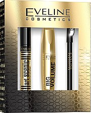 Parfumuri și produse cosmetice Set - Eveline Cosmetics (mascara/10ml + eye/pencil/1.2g + brow/corr/10ml)
