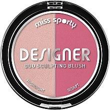 Parfumuri și produse cosmetice Fard pentru conturarea feței - Miss Sporty Draping Designer Duo Sculpting Blush