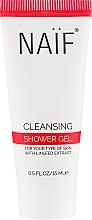 Parfumuri și produse cosmetice Gel de duș - Naif Cleansing Shower Gel (mini)