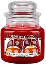 Parfumuri și produse cosmetice Lumânare aromată în suport de steclă - Country Candle Salted Caramel Apples