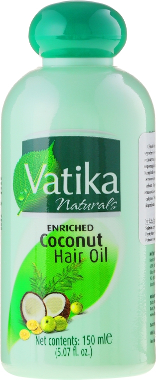 Обогащенное кокосовое масло для волос - Dabur Vatika Enriched Coconut Hair Oil