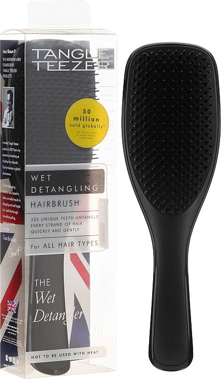 Perie de păr, negru - Tangle Teezer The Wet Detangler Liquorice Black Standard Size Hairbrush