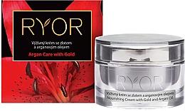 Parfumuri și produse cosmetice Cremă hrănitoare cu aur și ulei de argan - Ryor Daily Cream With Gold And Argan Oil