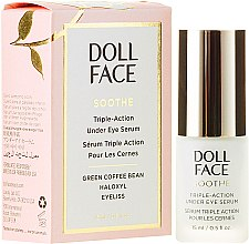 Parfumuri și produse cosmetice Ser pentru contur ochi - Doll Face Soothe Under Eye Puffiness Serum