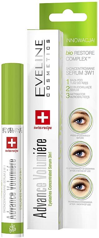 Ser activ pentru gene 3 în 1 - Eveline Cosmetics Cosmetics Eyelashes Concentrated Serum 3In1