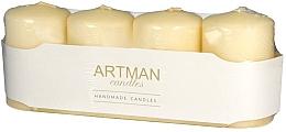 Parfumuri și produse cosmetice Set lumânări decorative, aurii - Artman Candles (candle/4pcs)