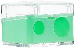 Parfumuri și produse cosmetice Ascuțitoare dublă pentru creioane, verde - Top Choice