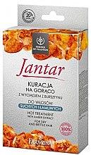 Parfumuri și produse cosmetice Set pentru păr deteriorat - Farmona Jantar Hot Treatment For Dry And Brittle Hair (h/mask/17ml + shmp/15ml + balm/5ml + cap)