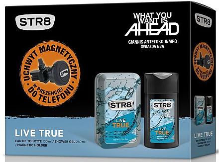 STR8 Live True - Set (edt/100ml + sh/gel/250ml + magnetic holder) — Imagine N1
