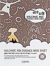 Parfumuri și produse cosmetice Mască din țesătură cu cenușă vulcanică - Esfolio Pure Skin Volcanic Ash Essence Mask Sheet
