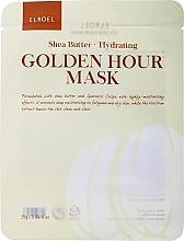 Parfumuri și produse cosmetice Mască hidratantă din țesătură pentru față - Elroel Golden Hour Mask Shea Butter Hydrating