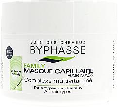 Parfumuri și produse cosmetice Маска для всех типов волос с мультивитаминным комплексом - Byphasse Family Multivitamin Complexe Mask