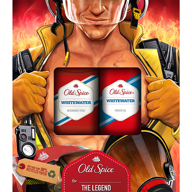 Set - Old Spice WhiteWater Fireman (deo/50g + sh/gel/250ml) — Imagine N1