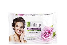 "Parfumuri și produse cosmetice Șervețele demachiante ""Trandafir"" - Nature of Agiva Wet Wipes Cleaning Make Up Rose Oil"