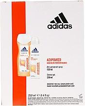 Set - Adidas Adipower Women (sh/gel/250ml + deo/spray/150ml) — Imagine N2
