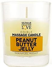 """Parfumuri și produse cosmetice Lumânare naturală pentru masaj """"Jeleu de arahide"""" - Hristina Cosmetics Sezmar Collection Peanut Butter Jelly"""