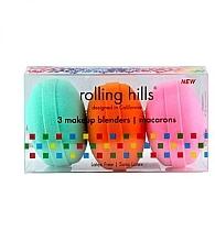 Parfumuri și produse cosmetice Set - Rolling Hills Makeup Blender Macarons Set (blender/3pcs)
