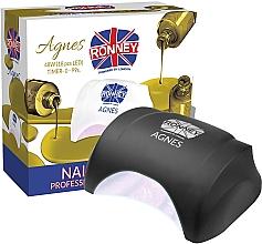 Духи, Парфюмерия, косметика Лампа для ногтей LED, черная - Ronney Profesional Agnes LED 48W (GY-LED-032)